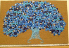 "I made this tree from Chemo vial tops for the wonderful women that I work with. ""The value and the beauty of every story is not always found in the ending, but sometimes in the very fight itself-- Naomi Zacharias  """