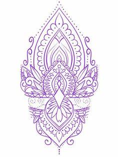Rose Drawing Tattoo, Tattoo Design Drawings, Mandala Tattoo Design, Henna Tattoo Designs, Tattoo Sketches, Simple Mandala Tattoo, Geometric Mandala Tattoo, Dot Tattoos, Body Art Tattoos