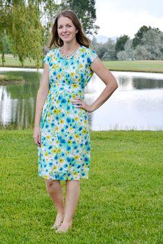 a lemon squeezy home: Make it Perfect Pattern Parade: Floral Coastal Breeze Dress