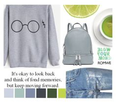 """""""#MoveForwardWithRomwe"""" by juromi ❤ liked on Polyvore featuring Topshop and MICHAEL Michael Kors"""