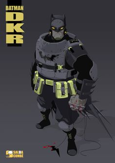 "Revision of Frank Millers's ""Dark Knight Returns"" Batman by Salba Combé"