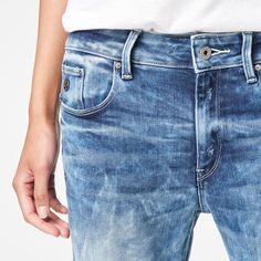 G-Star RAW | Frauen | Jeans | Raw For The Oceans - type C 3d Jeans , Light Aged Destroy