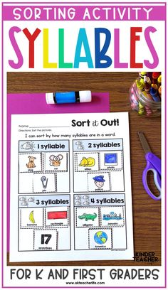 If students struggle with decoding words, then they tend to struggle with reading words in text too. Here are some phonological awareness activities to support struggling readers. Kindergarten First Week, Kindergarten Special Education, Sorting Activities, Hands On Activities, Hearing Sounds, Phonological Awareness Activities, Made Up Words, Reading Words, Struggling Readers