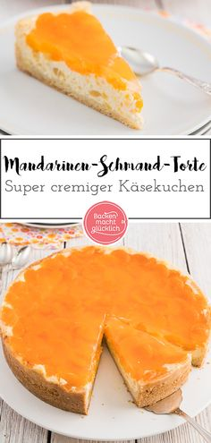 Mandarinen-Schmand-Torte This creamy tangerine sour cream cake is once again a true classic, the cre Sour Cream Cheesecake, Sour Cream Cake, Cheesecake Recipes, Cookie Recipes, Cupcakes Amor, Shortcrust Pastry, How To Cook Pasta, No Bake Desserts, Relleno