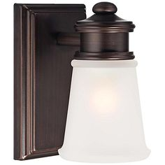 """Transitional 5 3/4"""" High Brushed Bronze Wall Sconce"""