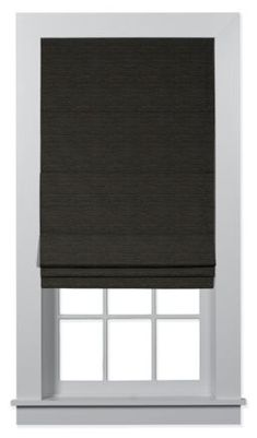 Bali™ Custom Tailored Roman Shades give you the custom-made feel of professionally designed shades at a do-it-yourself price. Bamboo Shades, Roman Shades, Wooden Shades, Shades Blinds, Black Bamboo Shades, Small Bathroom Window, Roman Shades Bedroom, Roman Shades Living Room, Window Design