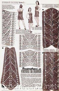 вязаное платье молочный шоколад-схемы