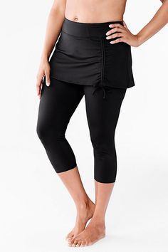 Swim Crop Legging from Lands' End $65 Yes! Need these for spring/fall/early morning kayaking!