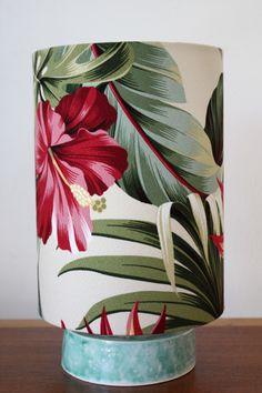 tropical hibiscus circle lamp - Homeworks Design Store
