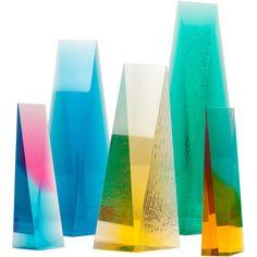 norman mercer acrylic sculptures