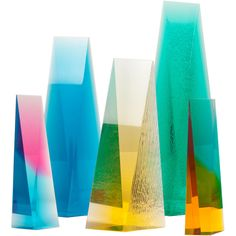 I've always been drawn to colorful, glowy things.  Acrylic sculptures by Norman Mercer.  via 1stdibs.com