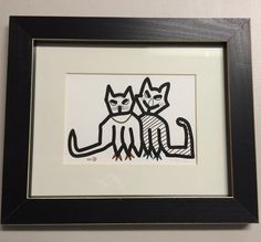 Cat Lovers for Valentines: 8x10, framed. $22.8 after 40%off till 14th. Not online yet but email to sales@pinkFROGnyc.com get it. #pinkfrognyc #art #graphic #printing #garment #tie #tee #tshirt #linen #underwear #toddler #baby #onesie #handmade #tote #apron #print #framedart #love #passion #wedesign #weprint #wearenewyork #wearepinkfrog #happynewyearofthemonkey #cat #catlover #valentine #happyvalentinesday #shopforvalentine