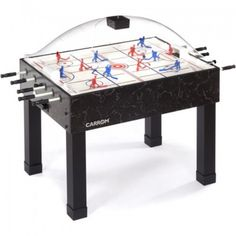 White Styrene with silkscreen graphics Super Stick Hockey Table- Black Air Hockey Games, Ice Hockey, Hockey Man Cave, Hockey Cup, Brunswick Billiards, Thing 1, Indoor Games, Table Games, Black Marble