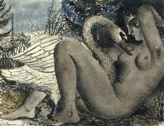 Paul Delvaux Paul - Leda y el cisne