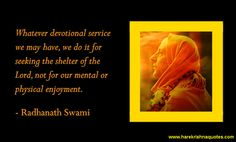 Radhanath Swami on Devotional Service