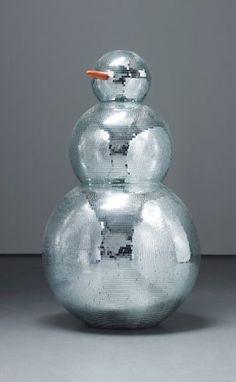 kristina solomoukha disco-ball snowman