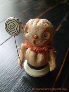 LolliPop  Halloween Folk Art by Melissa Valeriote