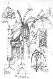Resultado de imagen de draw gothic architecture