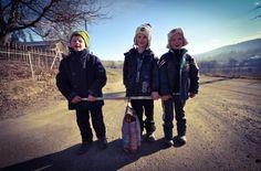 Three boys going carolling in a remote village in Bucovina, Romania. City People, Three Boys, Romania, Remote, Pilot