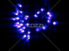decorative defocused blue lights. - View of decorative defocused blue lights.