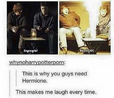 """""""Where's Hermione when you need her?"""" -Ron Weasley Book/Movie Two: Chamber of Secrets Harry Potter Jokes, Harry Potter Fandom, Harry Potter World, Hogwarts, Yer A Wizard Harry, Harry Potter Universal, Mischief Managed, Fantastic Beasts, Percy Jackson"""