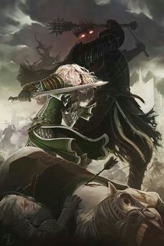 Eowyn and the Witch King #lordoftherings #fanart