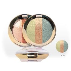 Golden Rose Terracotta Glitter Eyeshadow Trio - 410 (Green and Bronze)  This unique and ultra sparkle eyeshadow gives your eyes the dazzling colours of the rainbow and the glisten of stars. It is perfect for night and day wear.