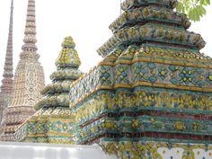 Architectural features symbolizing Buddhist Iconography, Bangkok, Thailand