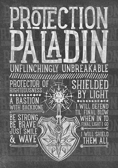 World of Warcraft Class Specialization / Roleplaying / Fantasy Art Print - Protection Paladin - Clothing, Art Prints, Posters, Mugs and gifts Available now! Druida Wow, World Of Warcraft Paladin, Art Warcraft, Half Elf, Dark Tide, Type Posters, Wall Posters, Dnd Classes, Death Knight