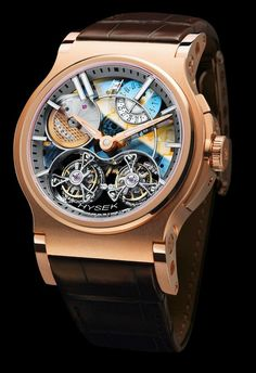 Hysek Verdict 46mm Double Tourbillon Sapphire Dial