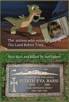 I just read her bio on imdb.  I remember when Pizza Hut came out with the rubber puppet figurines, Ducky was my favorite of them, and in the movies.  So tragic ~ I'm still crying…