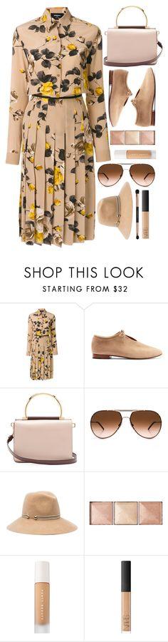 """Autumn Dress"" by smartbuyglasses-uk ❤ liked on Polyvore featuring Rochas, Martiniano, Salvatore Ferragamo, Dolce&Gabbana, Eugenia Kim, Hourglass Cosmetics, Puma, NARS Cosmetics and beige"