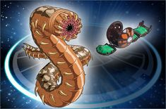 Wormquake (Japanese version: Worm ワーム) is a giant worm-like Bakugan with razor-sharp teeth...
