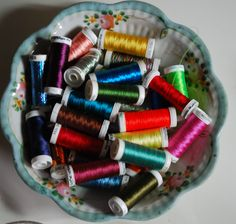 A bowlful of Sulky threads