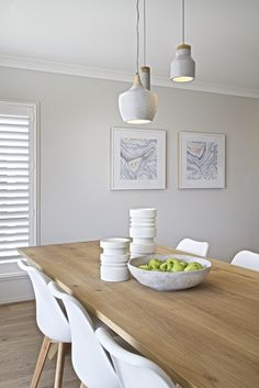 Clarendon Homes.  Sheridan 37.  White and soft timber dining room.