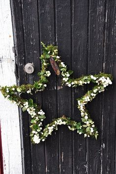 Love the simplicity of this star wreath -- doing this for my door next year!