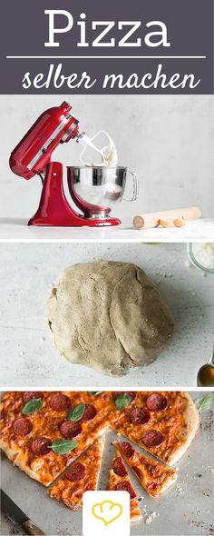 Mit der KitchenAid gelingt der Pizzateig garantiert! Hier gibt's die Kultmaschine zu kaufen: www.springlane.de/kitchenaid-shop/