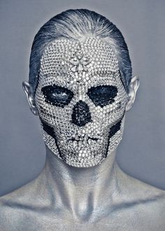 crystal skull mask shot by Miguel Starcevich - pinned by RokStarroad.com ~ unleash your inner RokStar - fashion, pop and mental health