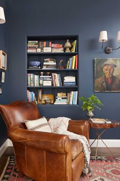 Domino shares unique spare room ideas for your home. Find spare room ideas for your home including an exercise room, home bar, or large closet. Warm Paint Colors, Modern Paint Colors, Cozy Reading Corners, Reading Nooks, Book Nooks, California Bungalow, Spare Room, Wood Pieces, My Living Room