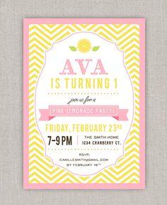 Hey, I found this really awesome Etsy listing at http://www.etsy.com/listing/122887498/pink-lemonade-birthday-invitation