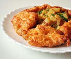 Naše obľúbené malé rezníky v syrovom cestíčku, ku ktorým robievam dusené zemiaky, sú u nás doma veľmi frekventovaným nedeľným obedom.