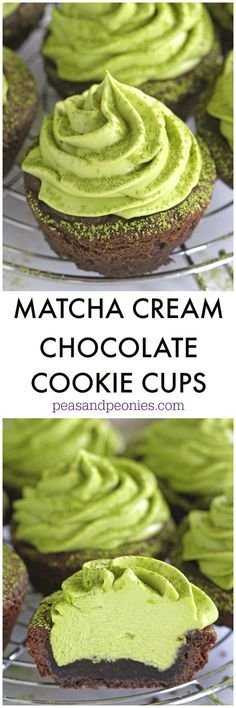 Matcha Cookie Cups a