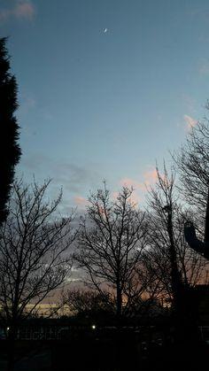 #crescent #Spring #evening # sky