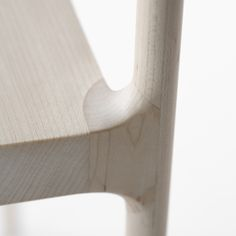 Deatil of the connection between the seat and the back structure of the Cord Chair by Japanese designers Nendo.