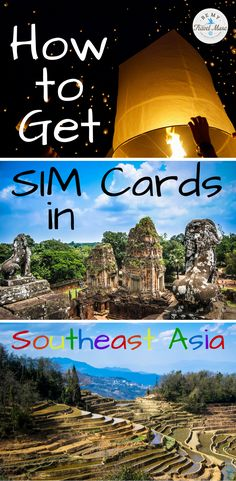 How to get SIM cards in various countries in Southeast Asia so you can stay connected with your unlocked phone. Details on SIM cards in Thailand, Laos, Cambodia, Indonesia and Malaysia are included.