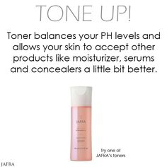 Tone Up! Toner is a step you don't want to miss.  Try one of JAFRA Cosmetics' Toners http://jafrausa.com/regional/productcatalog/product-listing/category?categoryId=12=true