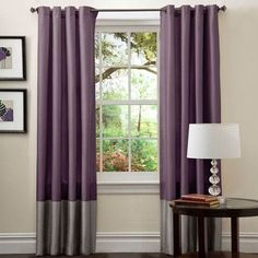 Lush Decor Prima Window Curtains Panel Set for Living, Dining Room, Bedroom (Pair), x Gray/Purple Purple Curtains, Brown Curtains, Purple Bedrooms, Bedroom Green, Grommet Curtains, Window Curtains, Curtain Panels, Bedroom Color Schemes, Bedroom Colors