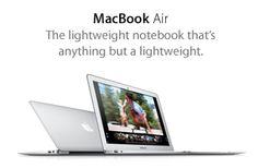 MacBook Air. The lightweight notebook that's anything but a lightweight.
