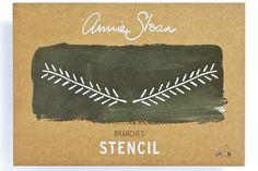 <p>Annie Sloan's simple, elegant Branches stencil is inspired by traditional Swedish design. Perfect as a stand-alone design or repeated in a pattern, use this versatile design to add some country elegance to any room or furnishing. Apply with your chosen Chalk Paint® paint colour and a foam roller or stencil brush.</p> <p>Design: 236mm width x 57mm height<br />Total area: 135cm2</p>