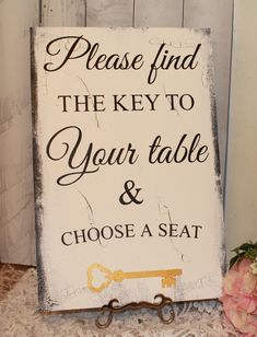 wedding signs reception tablesseating planseating assignment signchoose a seat
